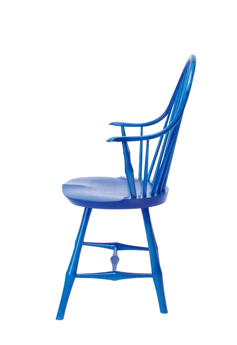 Hand-Crafted Wayland Elbow Chair, Contemporary Windsor Chair For Sale