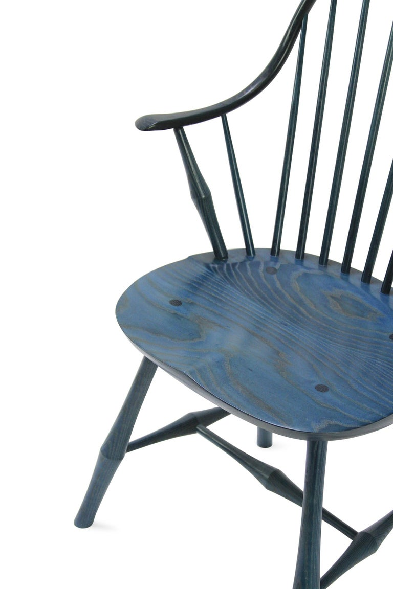 Wayland Elbow Chair, Contemporary Windsor Chair In New Condition For Sale In WARREN, RI
