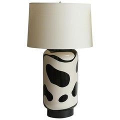 Waylande Gregory Black and White Lava Large Chuby Lamp