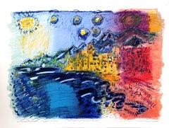 """Camogli, Italy"", 1982, Lithograph by Wayne Ensrud"