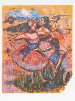 """Homage to Degas II"", 1980, Lithograph by Wayne Ensrud"