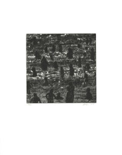 "Wayne Gonzales-Beach-18"" x 14""-Etching-2014-Contemporary-Black & White"