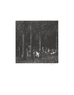"Wayne Gonzales-Forest-18"" x 14""-Etching-2014-Contemporary-Black & White"