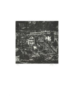 "Wayne Gonzales-Homes-18"" x 14""-Etching-2014-Contemporary-Black & White"