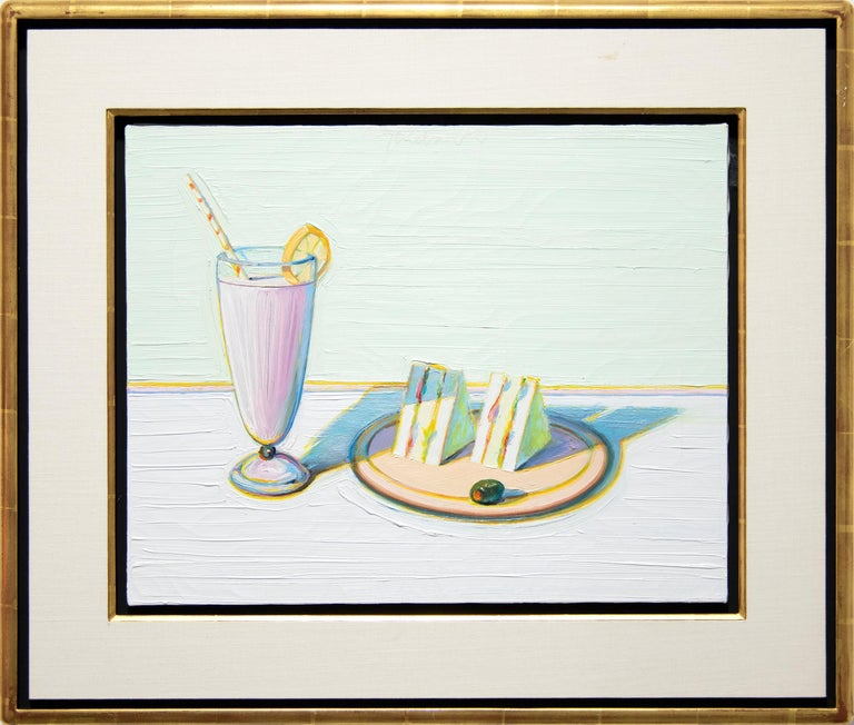 Milkshake & Sandwiches - Painting by Wayne Thiebaud