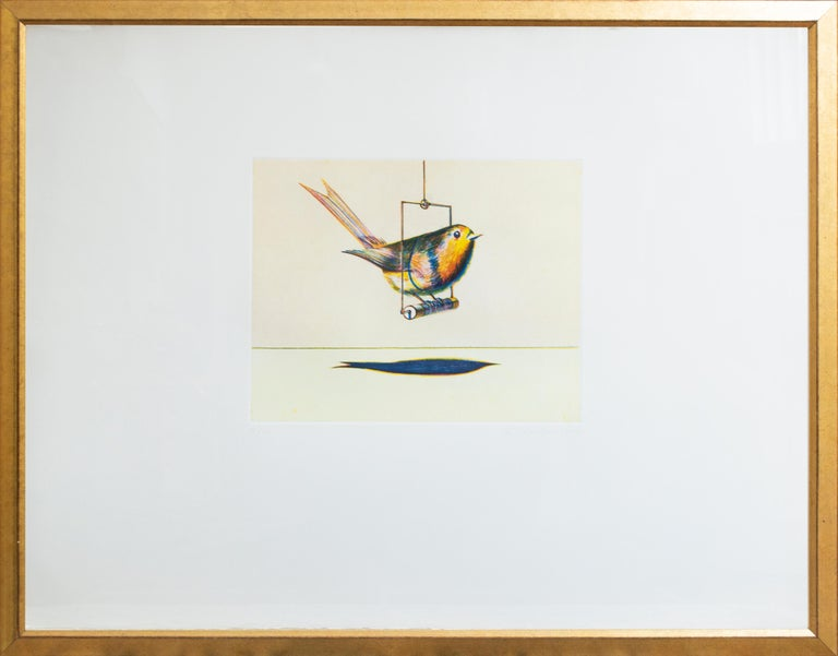Bird on a Swing, from Recent Etchings I by Wayne Thiebaud For Sale 1