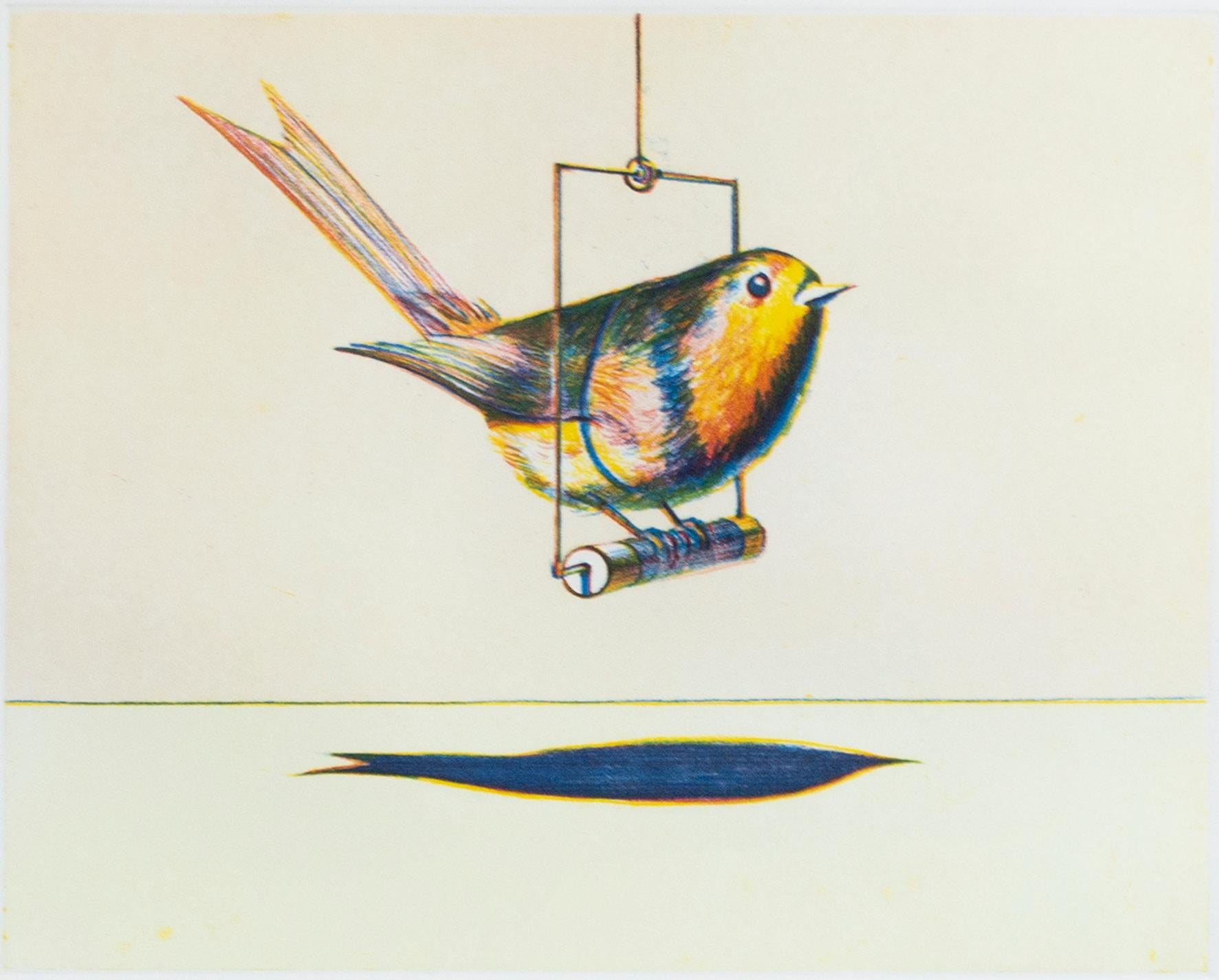 Bird on a Swing, from Recent Etchings I by Wayne Thiebaud