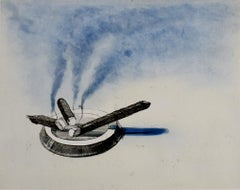 Cigars, from: Recent Etchings II - American Pop Art Cigars Smoking