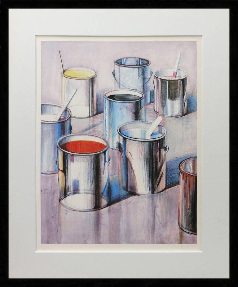 Wayne Thiebaud Figurative Print - PAINT CANS