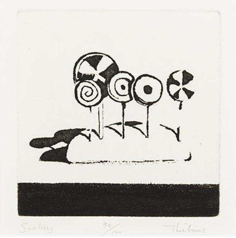 Wayne Thiebaud Figurative Print - Suckers, from Delights