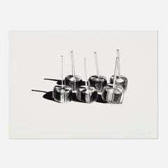 """""""Suckers State I"""" Wayne Thiebaud, Blue Chip Contemporary Pop, Candy Sweets Print"""