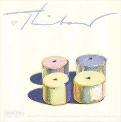 "WAYNE THIEBAUD Four Cakes 28"" x 28"" Poster 1986 Pop Art Pastel, Pink"
