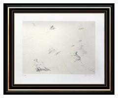 Wayne Thiebaud Original Seven Dogs Drypoint Etching Hand Signed Framed Artwork