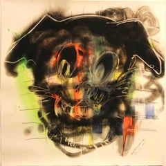 Dog, Carbon Smoke, Acrylic, Work on Paper, Pop Art