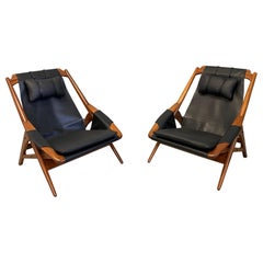 W.D. Andersag Lounge Chair in Black Leather