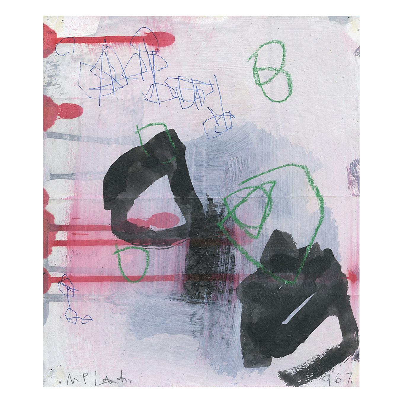 """""""WD967"""" Abstract Work on Paper by M. P. Landis, Warehouse Drawing Series"""