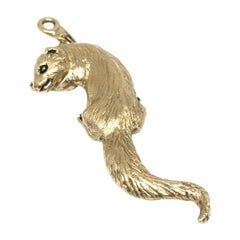 Weasel Gayle Bright #3/300 Limited Edition 14 Karat Yellow Gold Vintage Charm