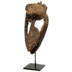 Weathered Archaic Bambara Wood Mask Fragment, Mali, Africa, Early 20th Century