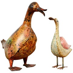 Weathered Metal Duck / Bird, 20th Century