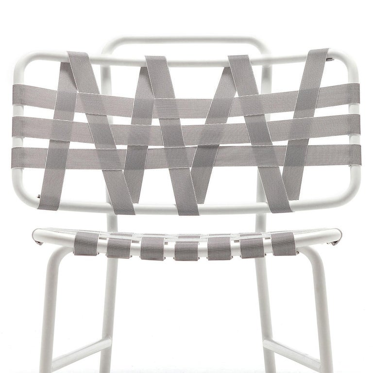 Lacquered Weaving Chair For Sale