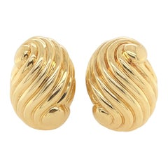 Webb Swril Gold Earclips