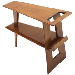 Wedge Shape Magazine Rack Stand End Side Table