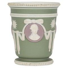 Wedgwood Antique Three Color Jasperware Medallion Vase
