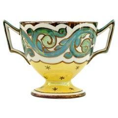 Wedgwood Art Nouveau Twin Handled Lustre Glazed Pedestal Cup, circa 1900