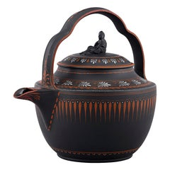 Wedgwood Black Basalt and Encaustic Enamel Rum Kettle