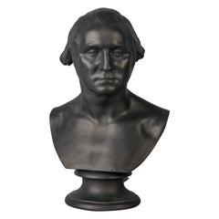 Wedgwood Black Basalt Bust of George Washington, circa 1840