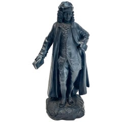 Wedgwood Black Basalt Pottery Bust Sculpture, Voltaire