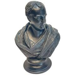 Wedgwood Black Basalt Pottery Bust Sculpture, Walter Scott