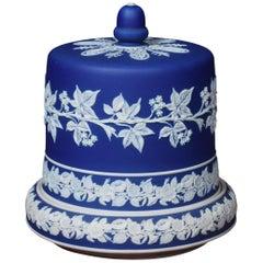 Wedgwood Blue and White Jasperware Cheese Dish
