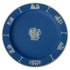 """Wedgwood Blue Dessert/Pie Plate in """"/the Three Graces"""", Hard to Find"""