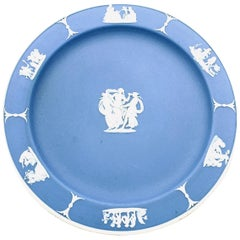 """Wedgwood Blue Dessert/Pie Plate in """"The Three Graces"""" Pattern"""