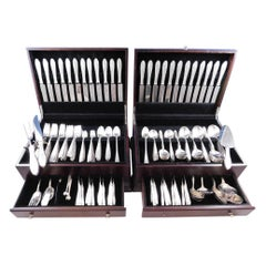 Wedgwood by International Sterling Silver Flatware Set 24 Service 258 Pieces