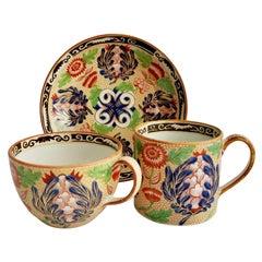 Wedgwood Creamware Teacup Trio, Chrysanthemum Pattern, Regency, ca 1815