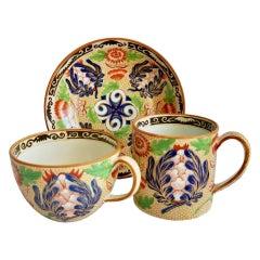 Wedgwood Creamware Trio, Chrysanthemum Pattern, Regency, ca 1815