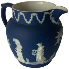 Wedgwood Dark Blue Jasperware Pitcher