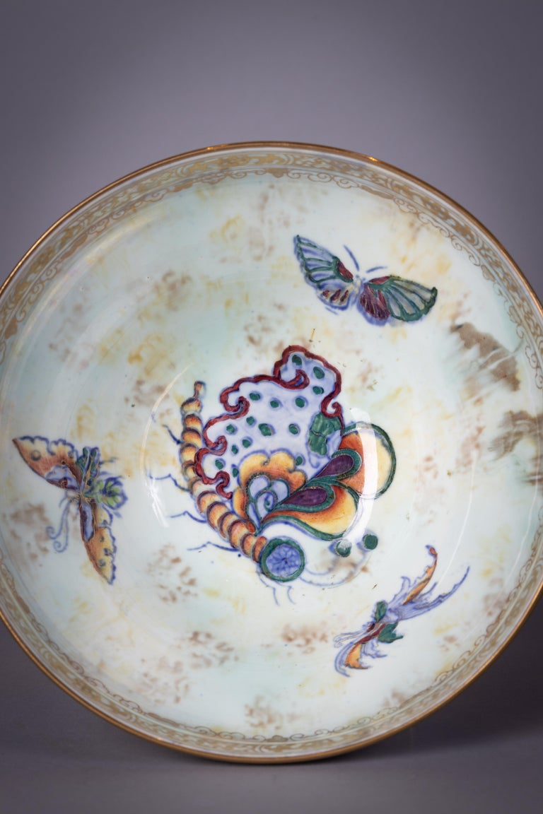 English Wedgwood Dragon Lustre Melba Bowl, circa 1920 For Sale