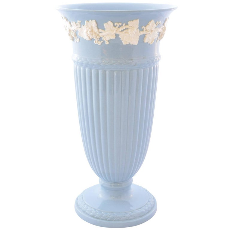 Wedgwood Embossed Queens Ware Vase For Sale At 1stdibs