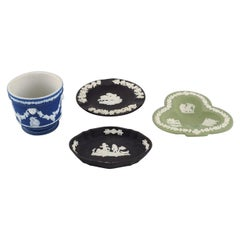 Wedgwood, England, Three Bowls/Dishes and a Flowerpot, Early 20th C