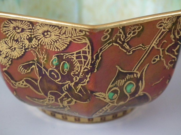 Wedgwood Fairyland Lustre 'Firbolgs' Antique Centre Bowl For Sale 5