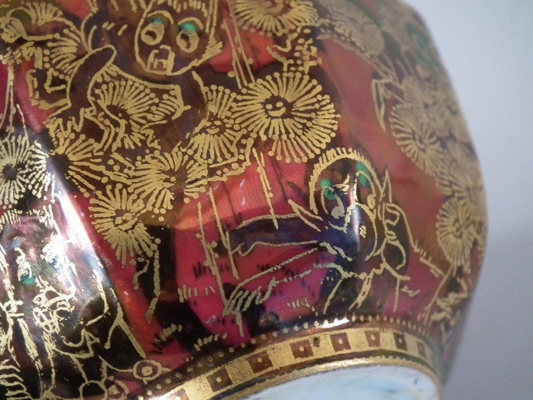 Wedgwood Fairyland Lustre 'Firbolgs' Antique Centre Bowl For Sale 6