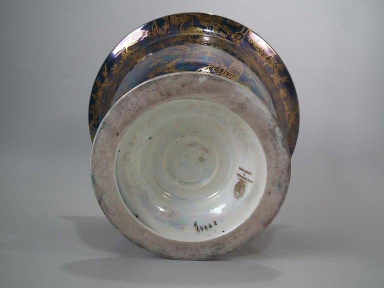 Art Deco Wedgwood Fairyland Lustre 'Firbolgs' Antique Centre Bowl For Sale