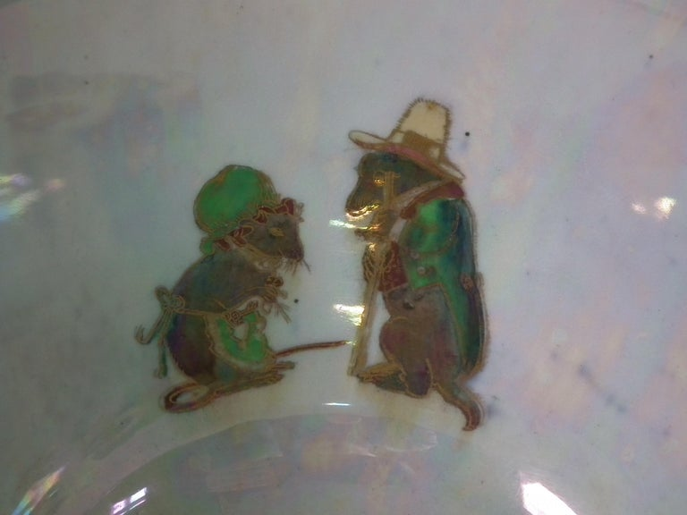 Wedgwood Fairyland Lustre 'Firbolgs' Antique Centre Bowl In Good Condition For Sale In Chelmsford, Essex
