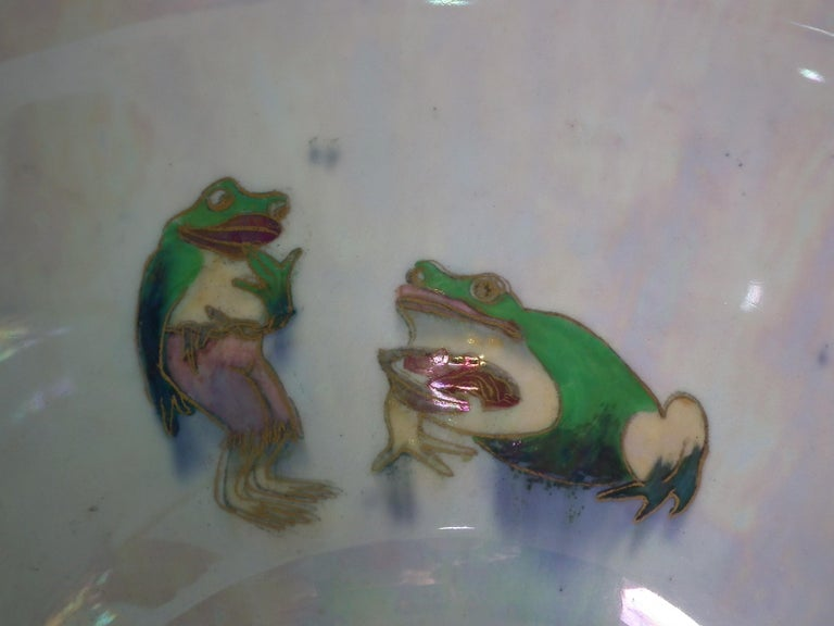 Early 20th Century Wedgwood Fairyland Lustre 'Firbolgs' Antique Centre Bowl For Sale