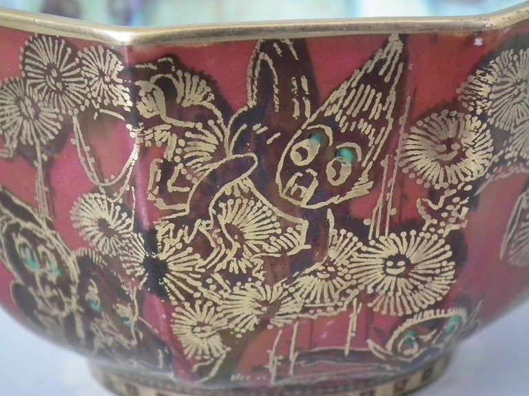 Ceramic Wedgwood Fairyland Lustre 'Firbolgs' Antique Centre Bowl For Sale