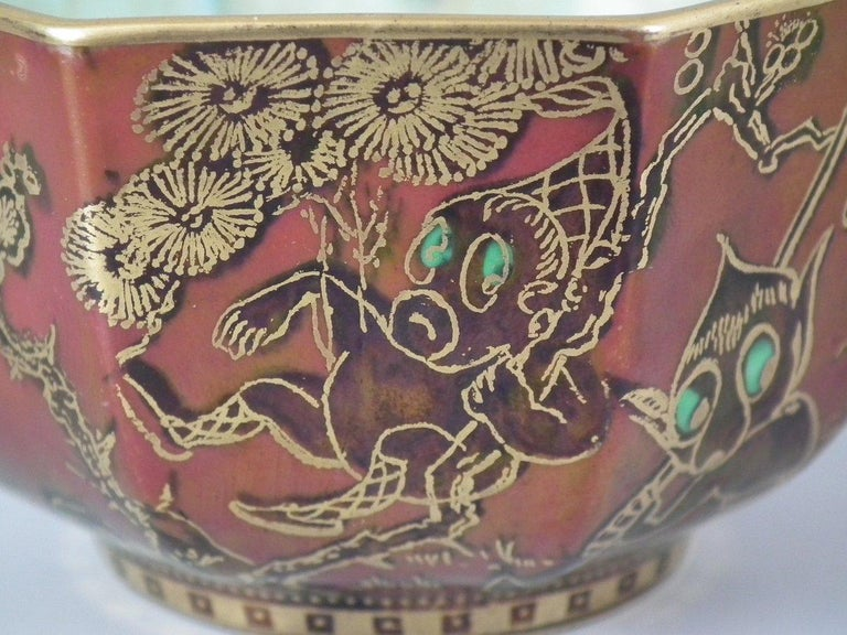 Wedgwood Fairyland Lustre 'Firbolgs' Antique Centre Bowl For Sale 1