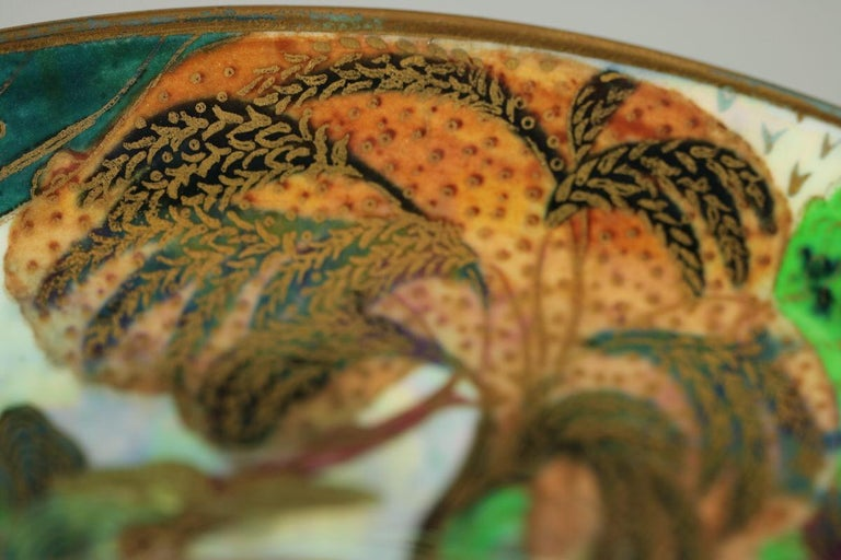 Wedgwood Fairyland Lustre Garden of Paradise Lily Tray For Sale 2